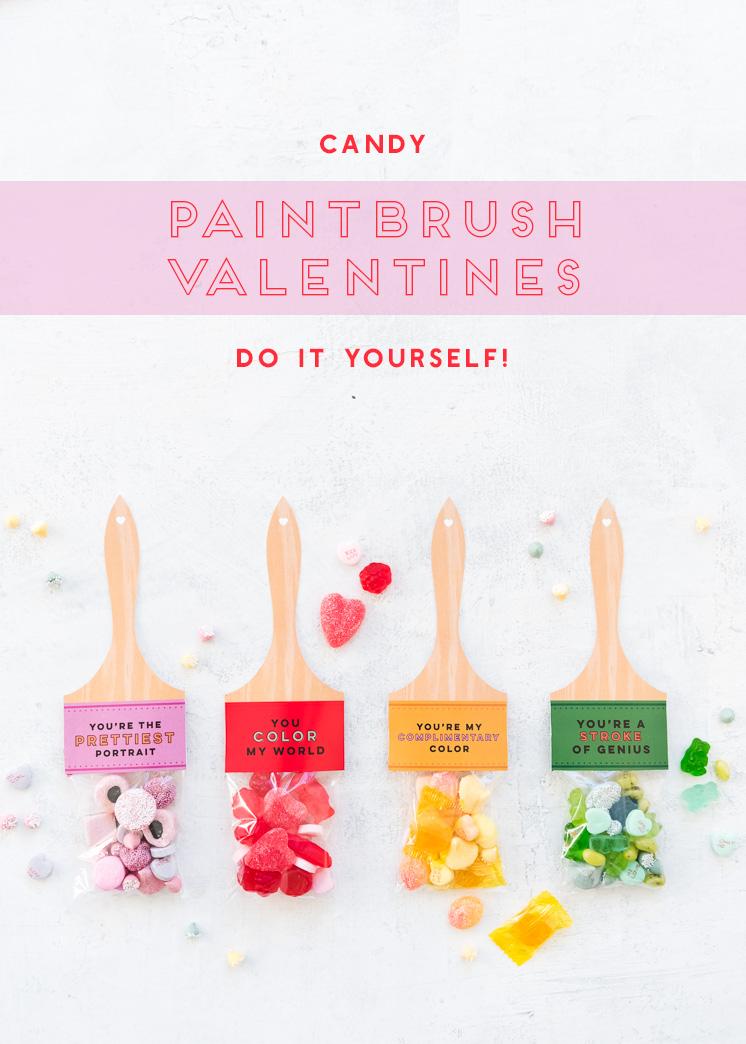 Druckbare Pinsel Valentines