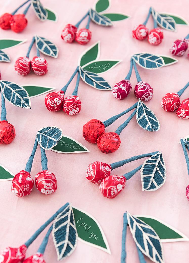 Tootsie Pop Kirsche Valentines