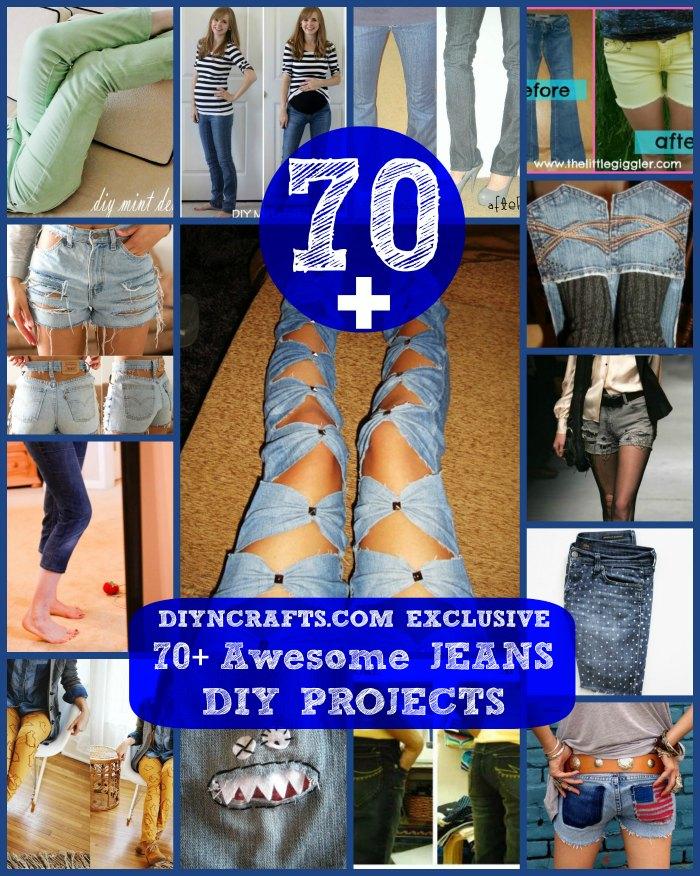 70+ Fantastische Jeans DIY-Projekte {Umgestalten, Abnehmen, Transformieren}