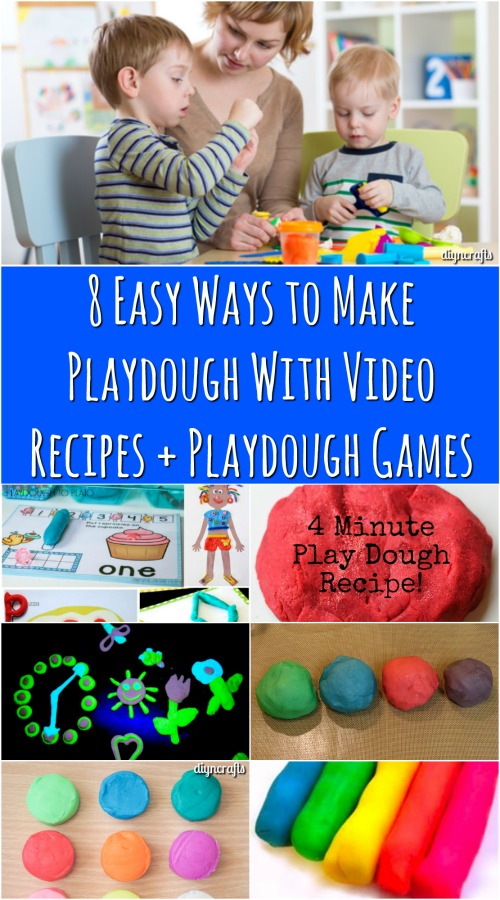 8 einfache Möglichkeiten, Knetmasse mit Video-Rezepte + Knetmasse Spiele zu machen