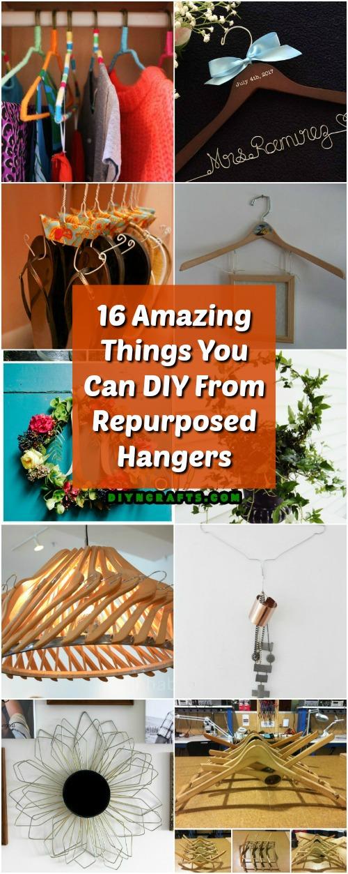 16 erstaunliche Dinge, die Sie von Repurposed Kleiderbügeln DIY
