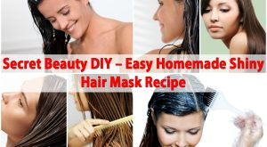 Secret Beauty DIY - Einfache hausgemachte glänzende Haarmaske Rezept