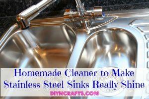 Hausgemachte Reiniger zu machen Edelstahl Waschbecken wirklich Glanz