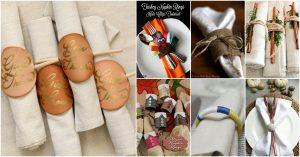 25 DIY Serviettenringe, die Ihren Thanksgiving Dinner Table verkleiden werden