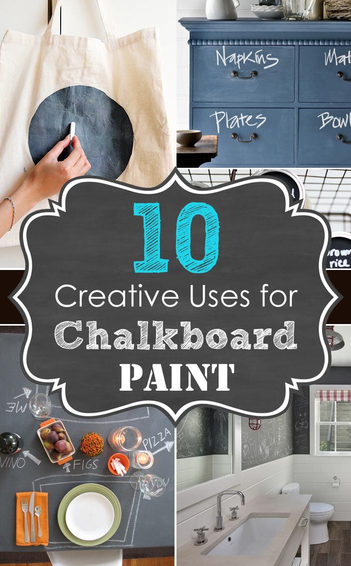 10 kreative Anwendungen für Tafelfarbe