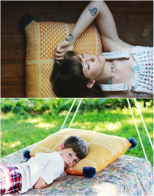 22 einfache DIY-riesige Bodenkissen und Kissen, die Spaß und Entspannung sind