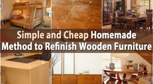 Einfache und preiswerte selbst gemachte Methode, hölzerne Möbel zu verbessern
