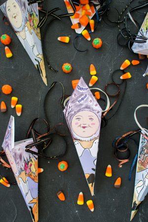 Bedruckbare Halloween Süßigkeiten Geschenkbox