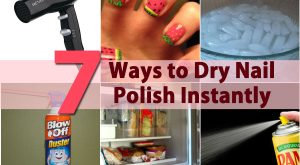 DIY Beauty Tricks - 5 Möglichkeiten, Nagellack sofort zu trocknen