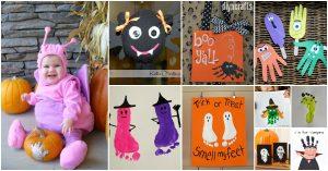 20 Spuk und Spaß Handabdruck und Footprint Halloween Crafts