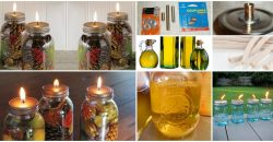 Fabulous DIY duftenden Einmachglas Öl Kerzen