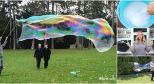 Sommerspaß mit den Kindern: Wie man riesige selbst gemachte Blasen bildet