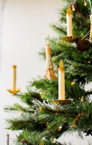 Papierkerze Weihnachtsbaum Ornament
