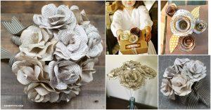 10 einfache Möglichkeiten, wunderschöne DIY Buchseite Rosen zu machen