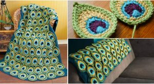 Wie man eine gehäkelte Pfau-Feder-Decke macht