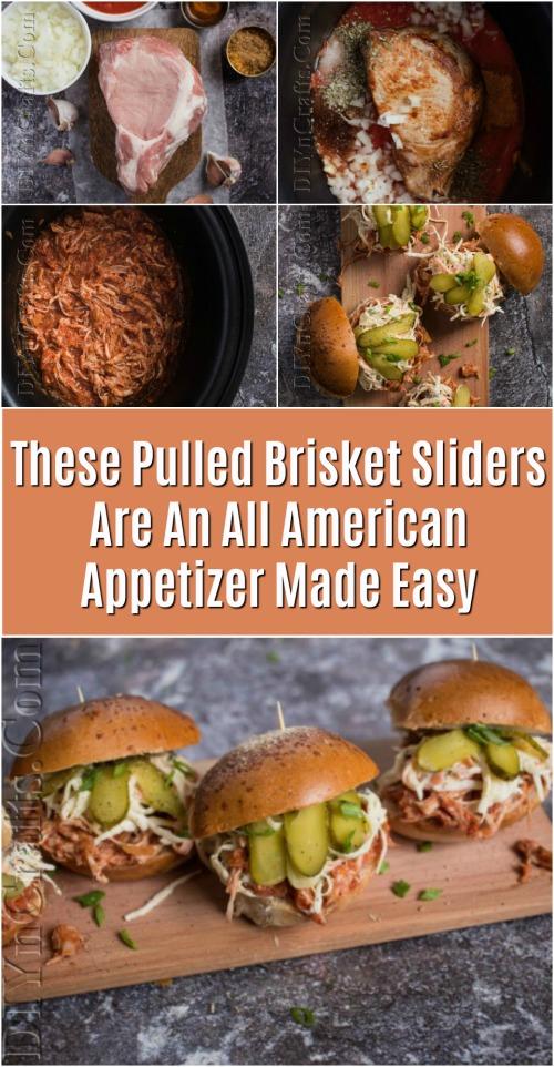 Diese Pulled Brisket Sliders sind ein All American Appetizer leicht gemacht