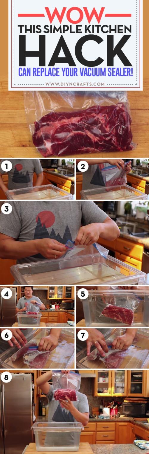 Wow, diese einfache Küche Hack kann Ihren Vakuumierer ersetzen!