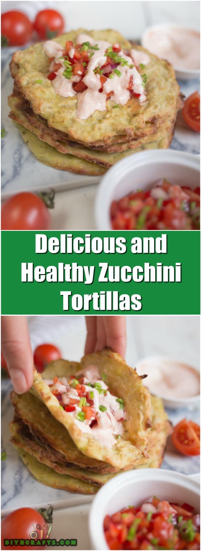 Diese einfach zu Zucchini Tortillas sind gesund und lecker