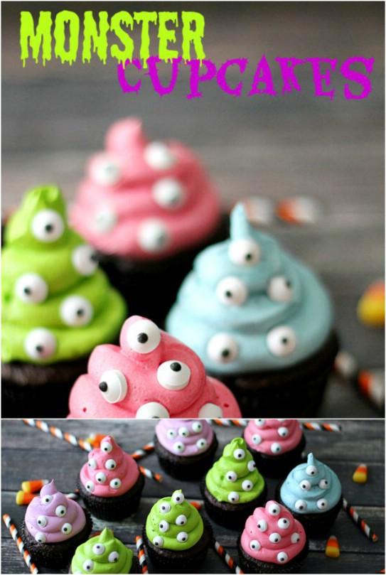 30 ghoulish Halloween Cupcakes, die Ihre Party eine gruselige Note hinzufügen