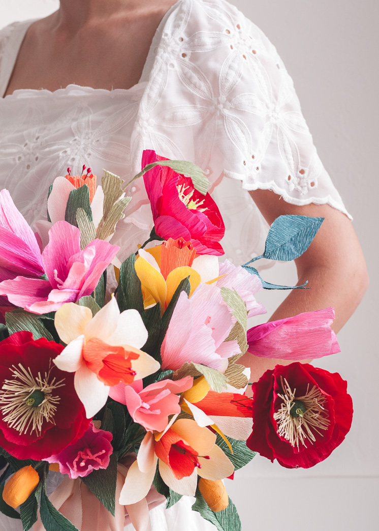 Papierhochzeits-Blumenstrauß Cinco Des Mayo