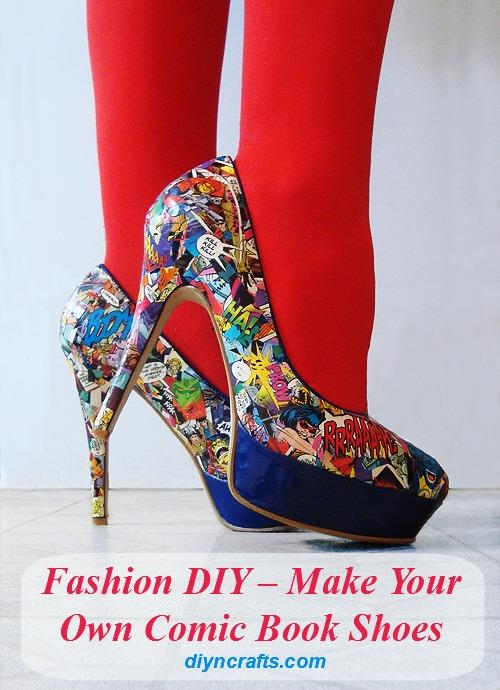 Mode DIY - Machen Sie Ihre eigenen Comic Book Schuhe