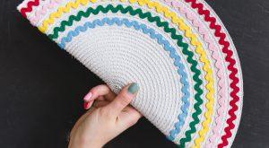 DIY Regenbogen ricrac Tischset Kupplung