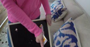 Dekorieren Hack: Wie Sie Zahnpasta verwenden, um Ihre Bilder gerade zu hängen