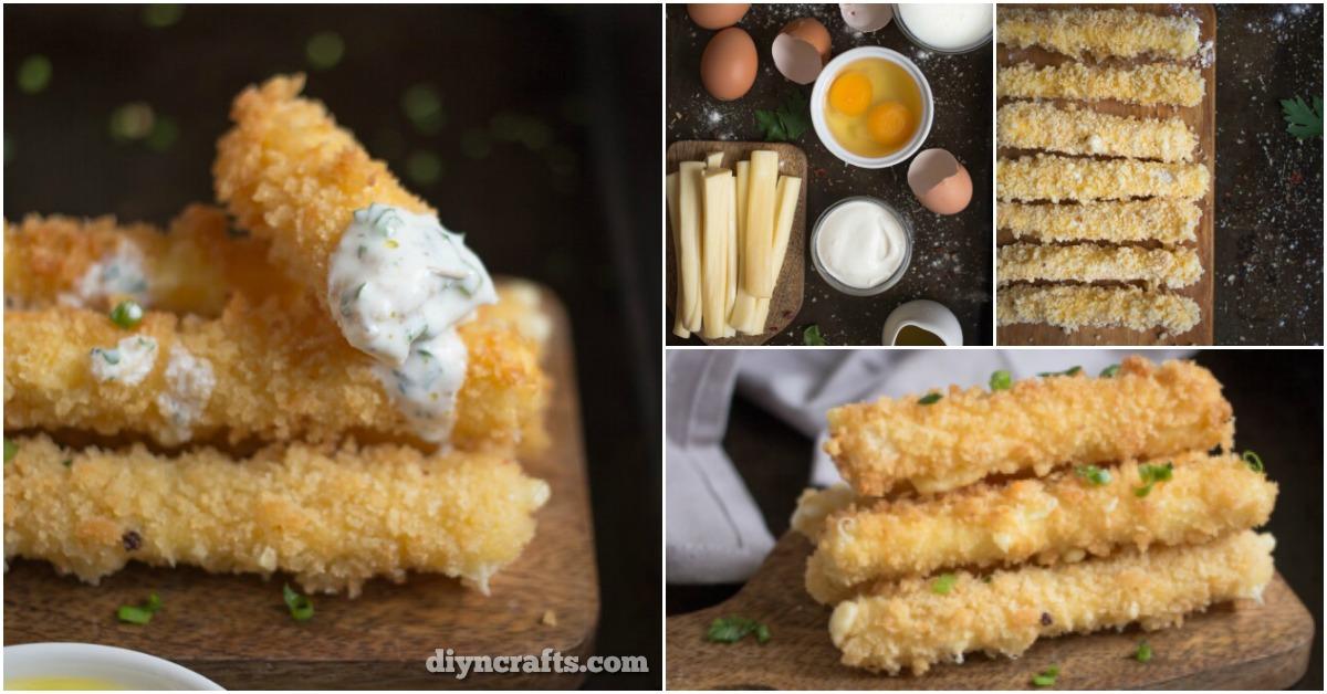 Gebratene Käse-Sticks mit Buttermilch-Sauce - das perfekte Vorspeise Rezept