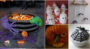 25 entzückende DIY Halloween-Dekorationen, die Sie heute stricken oder häkeln können