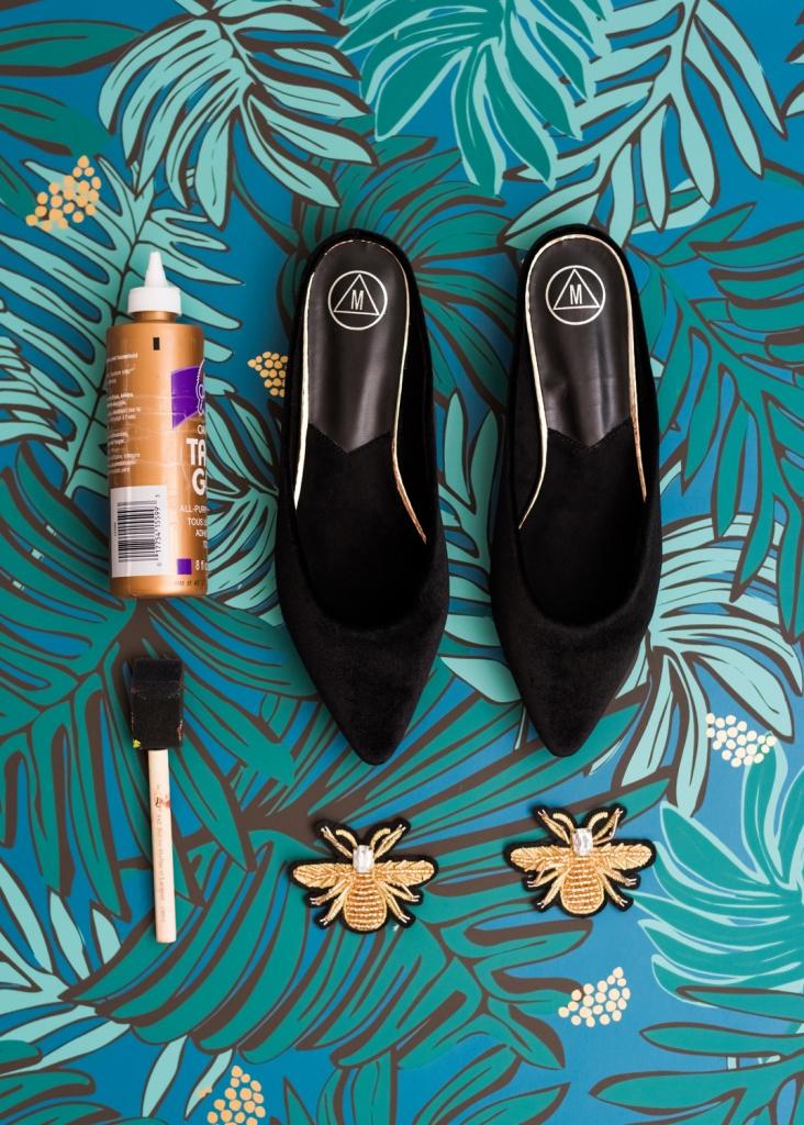 DIY Schuh Applikationen