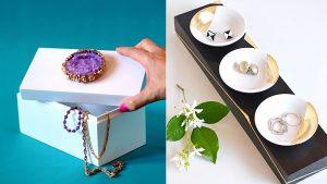 32 kreative DIY Schmuckschatullen und Aufbewahrungsideen