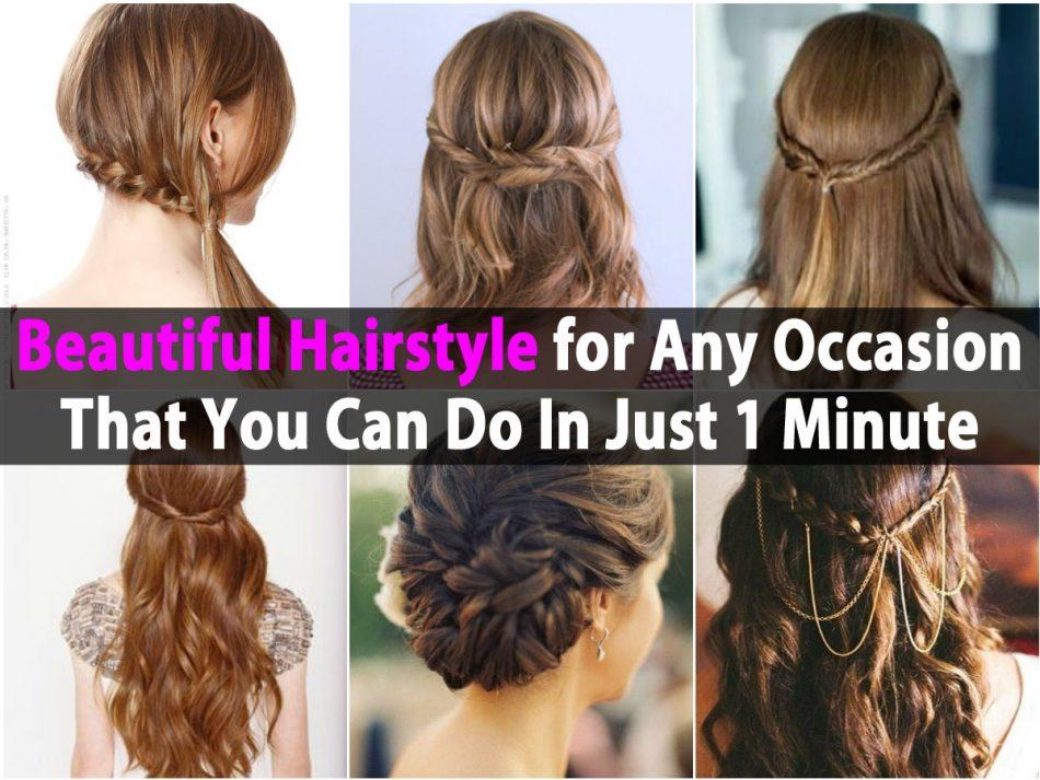 Schöne Frisur für jede Gelegenheit, die Sie in nur 1 Minute tun können