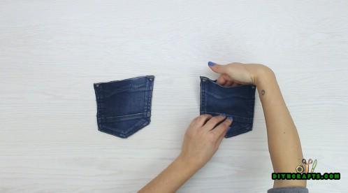 Wie man Getränk-Untersetzer aus einem Paar alten Jeans macht