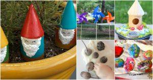 20 Spaß und kreative DIY Frühling Garten Handwerk für Kinder
