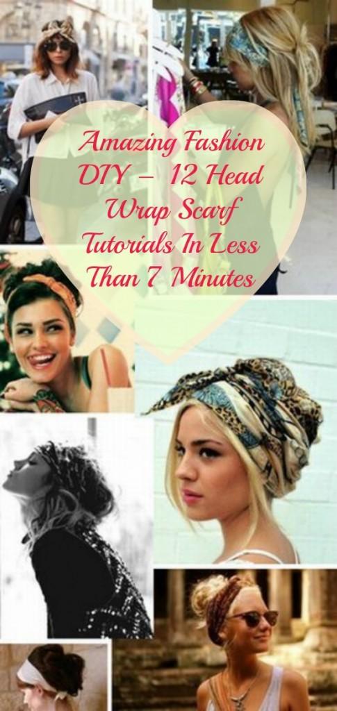 Erstaunliche Mode DIY - 12 Head Wrap Schal Tutorials in weniger als 7 Minuten