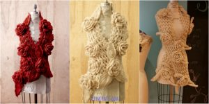 FREE Crochet Pattern: Wunderschöne irische Spitze Schal mit Rosen