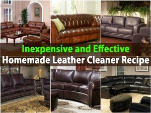 Preiswertes und effektives selbst gemachtes Leder-Reinigungsmittel-Rezept