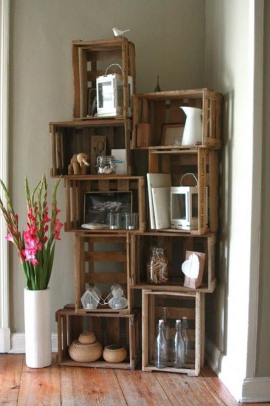 25 Holzkiste Upcycling Projekte für Fabulous Home Decor