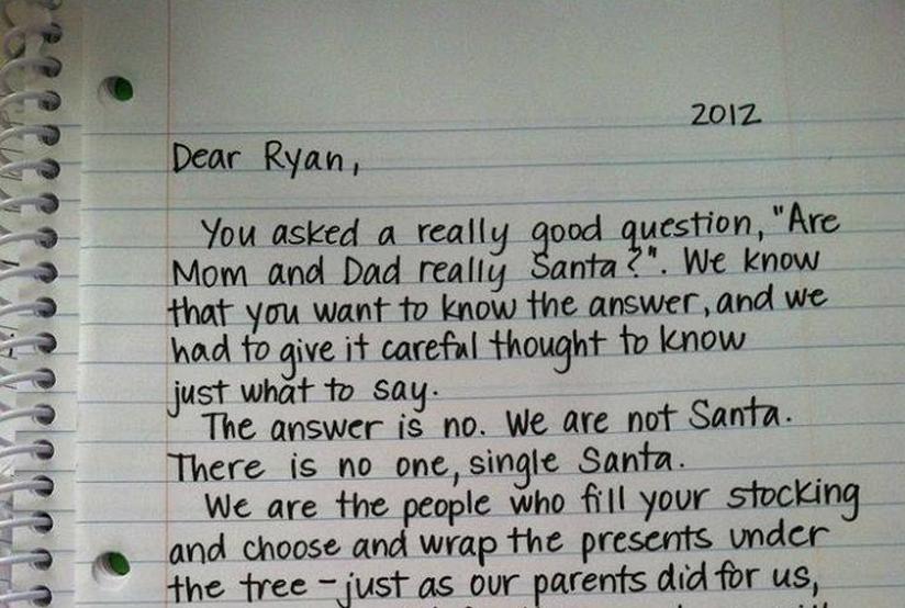 4 herzerwärmende Briefe, um den Weihnachtsmann zu erklären