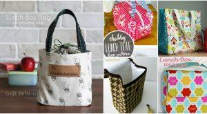 10 einfach zu DIY Lunch-Taschen und Beutel für Kinder und Erwachsene zu nähen