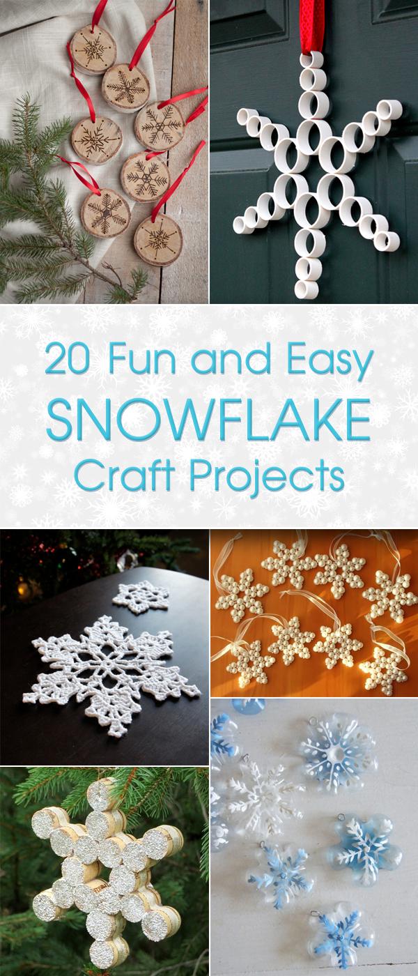 20 Spaß und einfache Snowflake Craft-Projekte