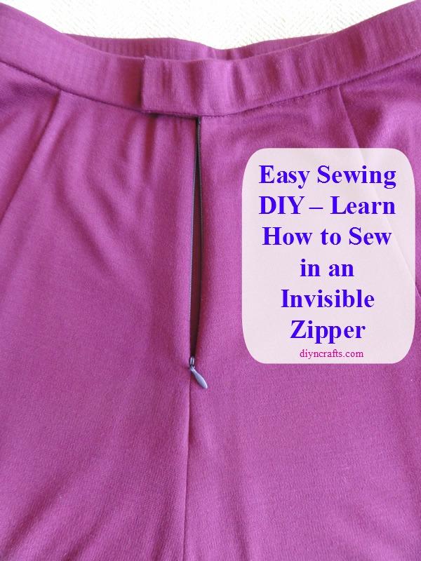 Easy Sewing DIY - Erfahren Sie, wie man in einem unsichtbaren Reißverschluss näht