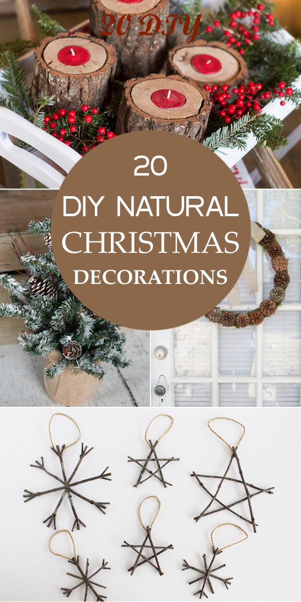 20 DIY natürliche Weihnachtsschmuck