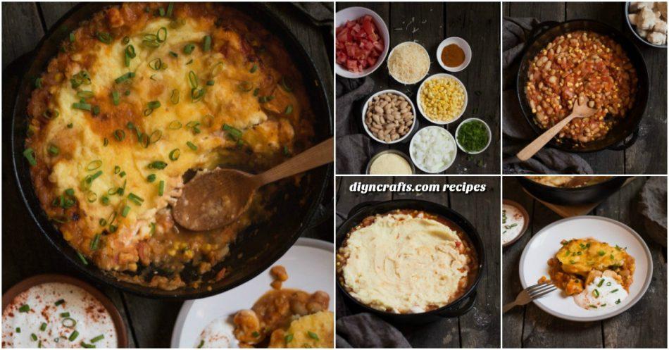 Für eine schnelle und einfache gesunde Mahlzeit, kann dieses Huhn Tamale Pie nicht geschlagen werden