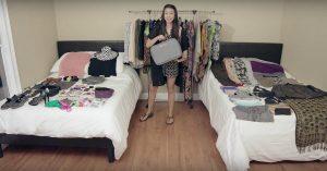 Professioneller Reisender erklärt, wie man 100+ Einzelteile in ein Weitermachen verpackt