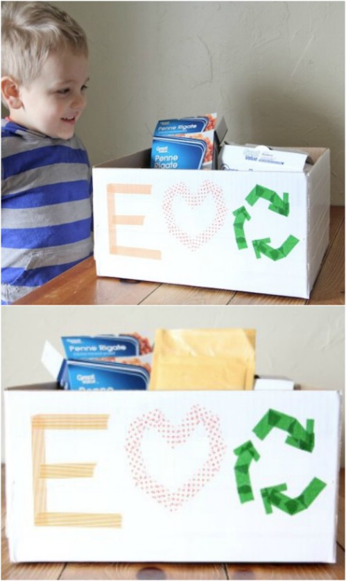 20 DIY Home Recycling-Behälter, die Ihnen helfen, Ihre Wertstoffe zu organisieren