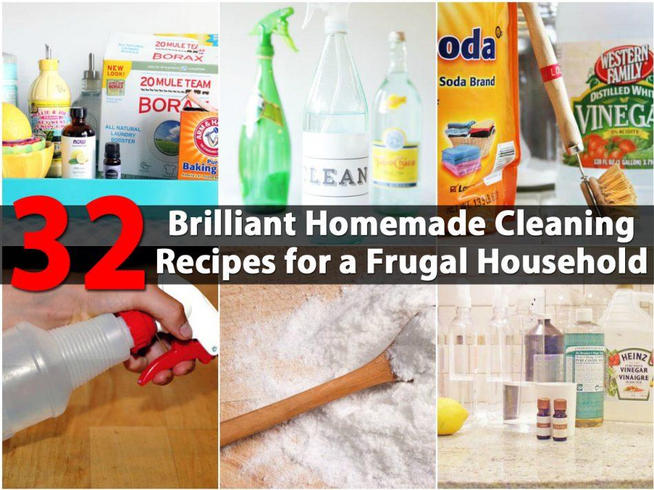 32 Brilliant Hausgemachte Reinigungsrezepte für einen sparsamen Haushalt