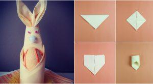 Wie man leicht diese entzückenden Osterhasen-Servietten-Platz-Einstellungen herstellt