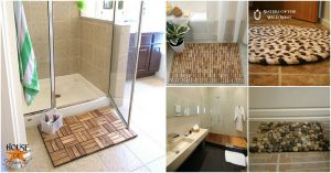 15 DIY Badematten, die Komfort und Stil zu Ihrem Badezimmer hinzufügen