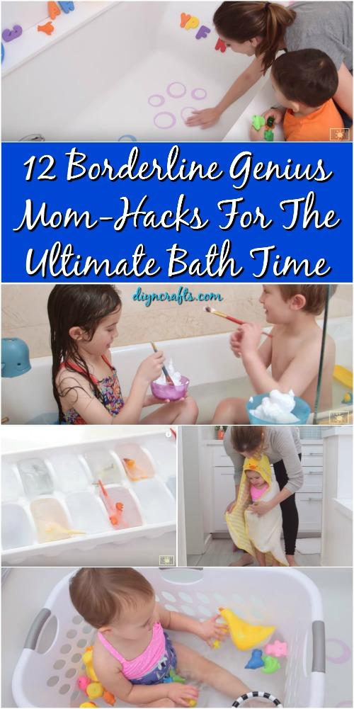 12 Borderline Genius Mom-Hacks für die ultimative Badezeit